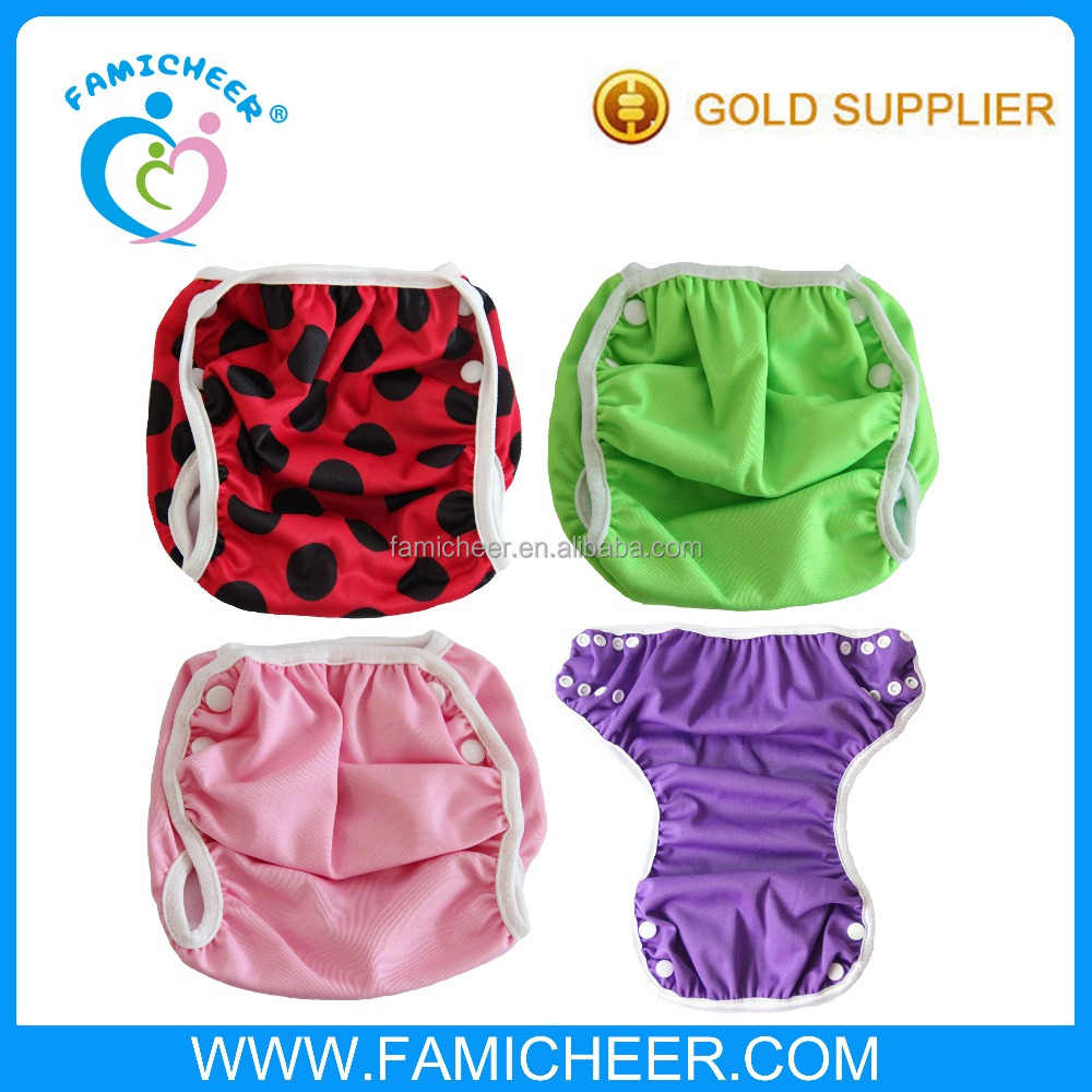 Famicheer Reusable Waist Snaps Toddler Pool Swimming Diapers Unisex