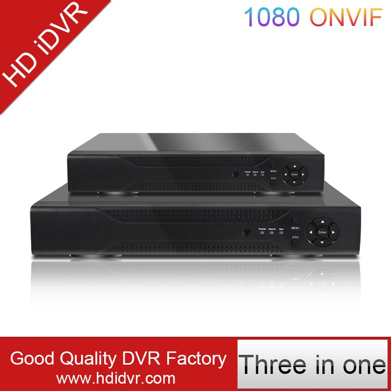 Korean CCTV Manufacturers DVR 720P/1080N 4Channel DVR 3 in 1 Realtime