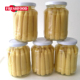 Fresh canned baby corn in glass jar