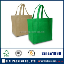 Green Non Woven Bag with logo/Non-Woven shopping Bag/cheap custom NonWoven Bag