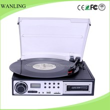 Classical Style Multiple Stereo Turntable Vinyl To Digital CD Record Player