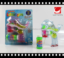 wholesale plastic musical summer toys flashing bubble gun