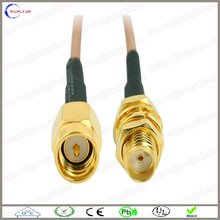 "12.5"" SMA male Plug to SMA female Jack RF Coaxial Coax pigtail Cable"