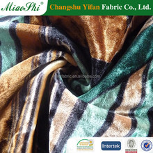 High performance material 95% polyester 5% spandex diamond KS printed velvet fabric for Saree