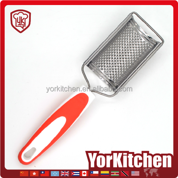 Unique design TPR handle Best Quality Stainless steel garlic grater plate wholesale