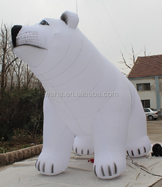 5m advertising promotional inflatable character/cartoon/model/animal/replica/mascot/costume/inflatable polar bear/white W541