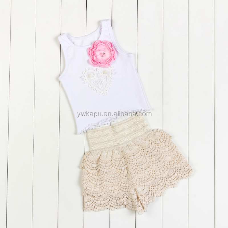 Fashion Baby Toddler Product Type White T shirt And Lace