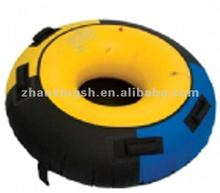 Waterproof PVC Giant Inflatable Water Tube Inflatable Safe Hard Bottom Snow Tube