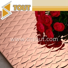 Factory Wholesale Color Etching Embossing Decorative Stainless Steel Sheet