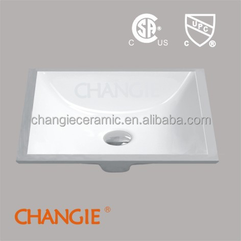 CHANGIE Bathroom undermounter ceramic sink with cupc & csa 1633