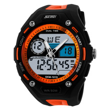 Skmei Slim Plastic Sport Watch For Men Running Multi-function Digital Waterproof