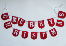 Hot sale Christmas decoration merry christmas slogan 127cm long