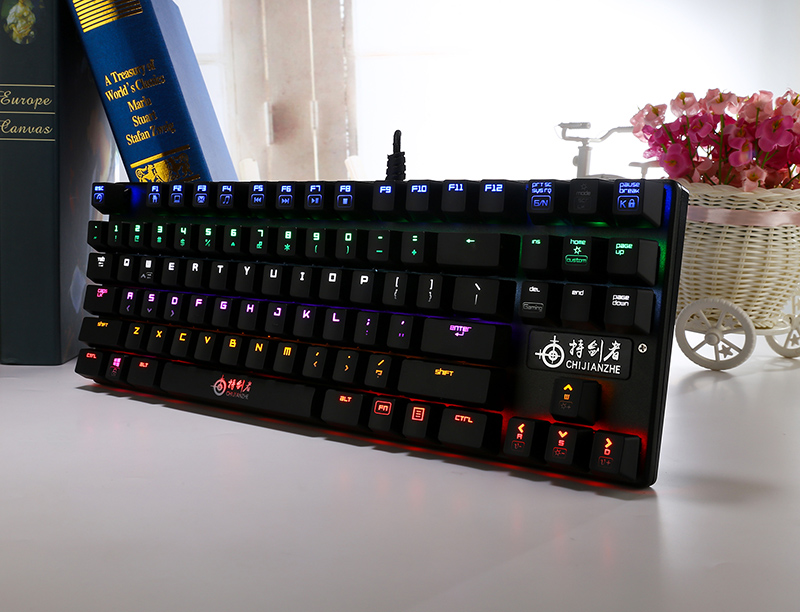 Shenzhen Mini Illuminated RGB Mechanical Bluetooth Keyboard With USB Port