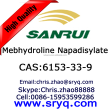 API-Mebhydroline Napadisylate, High purity cas 6153-33-9 Mebhydroline Napadisylate