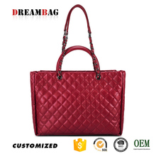 China quilted design Factory sale custom ladies dressing bags