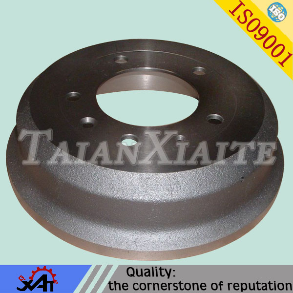 High endurance leaning manufacturing brake drum,ductile iron,resin sand casting,CNC machining,OEM service,auto spare parts.