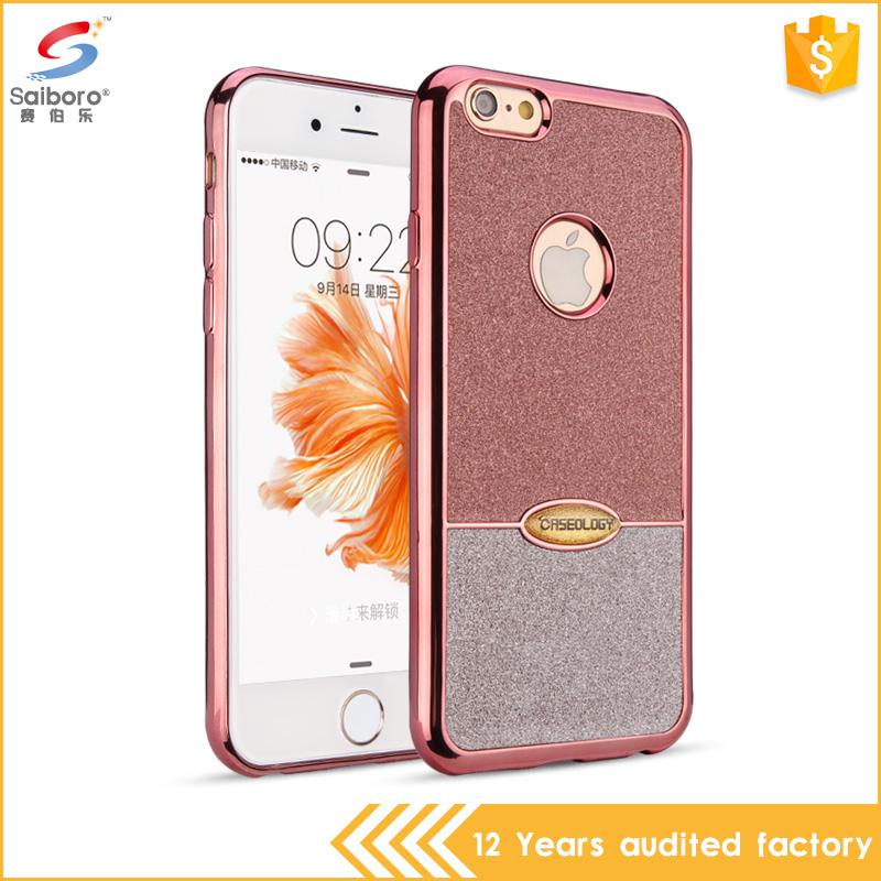 Newest product fantastic double color glitter tpu phone case for iPhone6