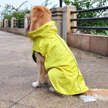 Chow Samoyed Large Dog Waterproof Four Legs Pet Raincoat Dog Clothes in Sale