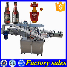 PLC controlled labeling machine round bottles,cocktail sticker labeling machine
