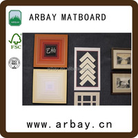 high quality acid free photo family naturism and black precut matboard decorative framing