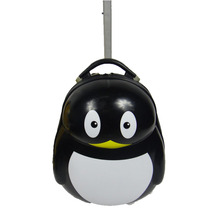 Cute Penguin Abs Pc Kids Luggage Trolley Carry-on Lightweight Luggage