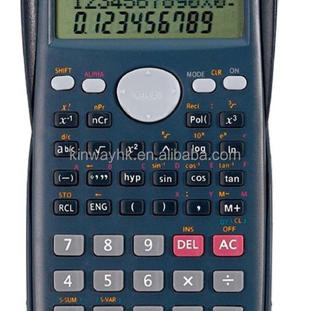 scientific calculator with plastic cover