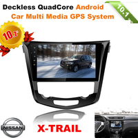 10.2inch hd touch screen android car dvd multi media player for NISSAN X-TRAIL with swc gps radio bt wifi 3g atv