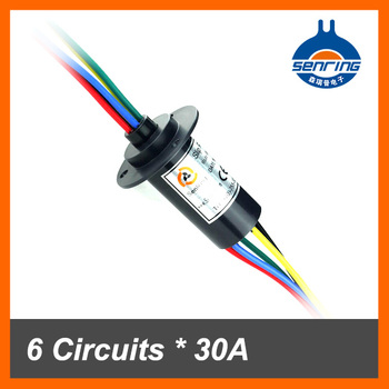 Mini slip ring for 30A current 6 wires/circuits contact of wind turbine slip ring