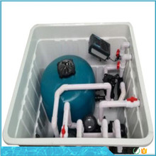 All-in-one underground integrative swimming pool quatz sand filter