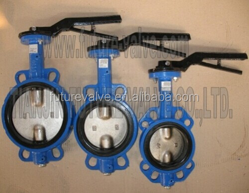 No Pin Two Stems Wafer Butterfly Valve Mutil Drilled Standard