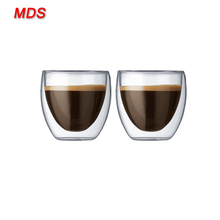 Insulated double-wall macchiato coffee 250ml double wall glass cup