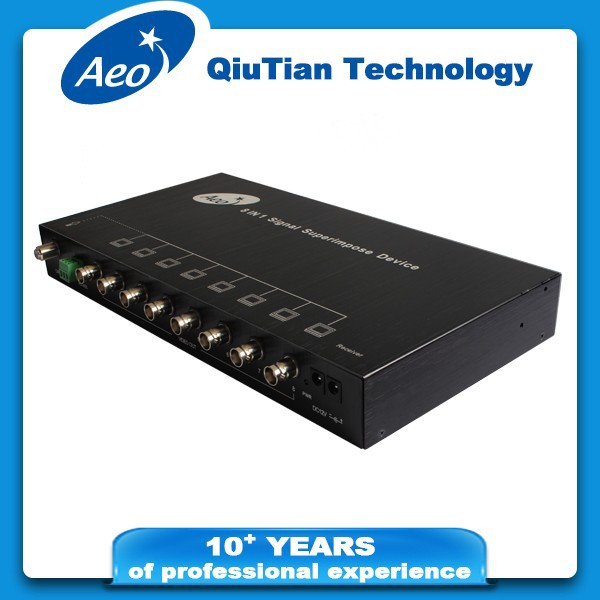 CCTV - 8CH signal multiplexer with RS485 (transmitter + receiver)