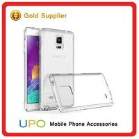[UPO] Stylish Custom Crystal Ultra Thin Transparent Hard Plastic TPU Phone Case for Samsung Galaxy Note 4
