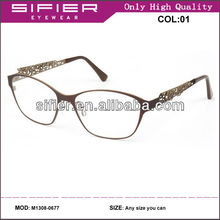 2013 Oversized Design Eyeglasses Italy Made Metal Frame With Clear Lens
