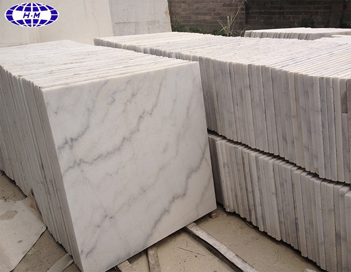 Hot Sale Floor Tiles Chinese Guangxi White Marble