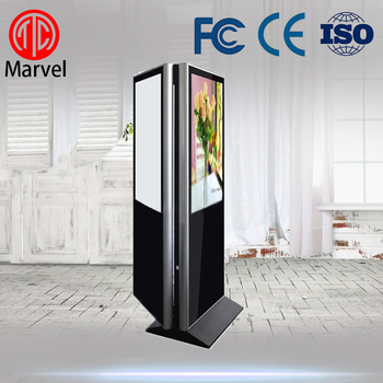 55 inch floor standing digital totem with dual screen