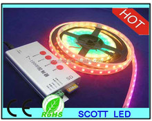 ws 2811 led strip light;60leds/m;4m/roll;DC5V input;White PCB;waterproof silicon tube IP67