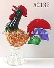 Glass Cock Rooster for home decor