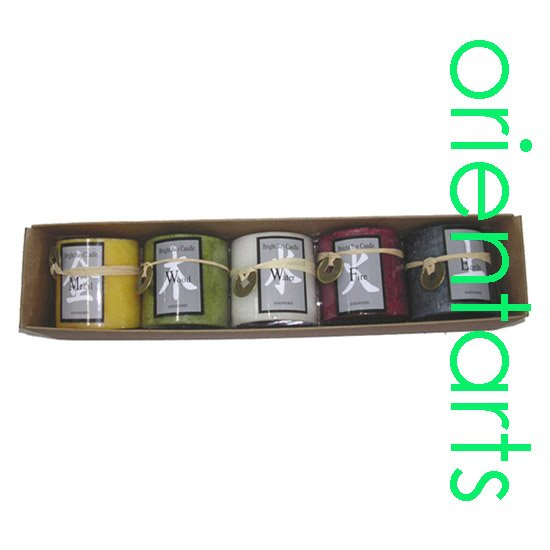 "2"" Feng Shui 5 Elements Candle Gifts Set"