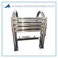 stainless steel ladder with double-pipe steps