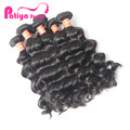 Natural wavy hair bundles deal colour black 1b or brown #2 quality guarantee virgin brazilian wonderful wave
