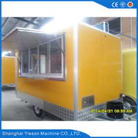 big quantity supply mobile food truck trailer / best sell candy floss vending booth cart van / top sale cooling food truck van