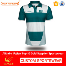 Wholesale customized rugby sublimated polo men printed shirt for teams bulk