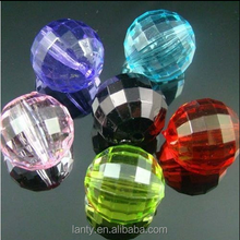 Mixed Colors and flat faceted High Quality Wholesale Acrylic Beads 8mm 10mm 12mm