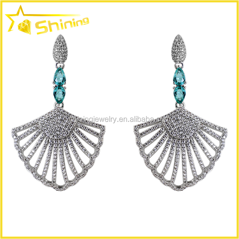 charming women wedding party joyas with cz micro paved brazil jewelry earrings