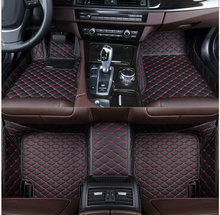 High Quality Coffee Durable Luxury Washable Customized Led Car Foot Mats