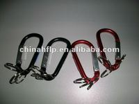 eco-friendly 3 key ring aluminum carabiner with key ring