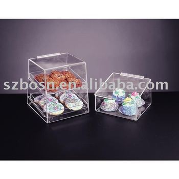 Lucite sealed perspex sweet candy box container for cookies