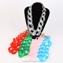 wholesale jewelry products made in korea fashion jewelry jewellery acrylic glowing necklace handmade statement necklacenecklace