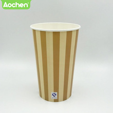 Various sizes disposable popcorn paper box for food packaging